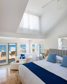 Blue - Inn on the Beach Plum Island, Massachusetts Hotels property Bedroom living room home cottage Suite condominium Villa blue Seaside Inn, Luxury Inn, Beach Plum, Plum Island, Shelter Island, New England Style, Great Hotel, Hotel Suites, Beach Hotels