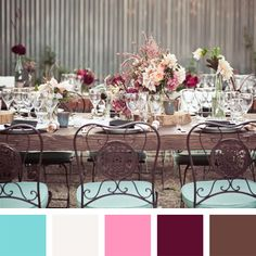 Earthy hues and rich jewel tones like purple, green and red set the mood for a bold Autumnal wedding. Find inspiration from these wedding color combos perfect for fall.