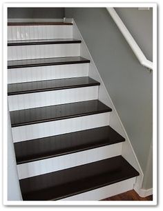 Bead board on the stairs .....