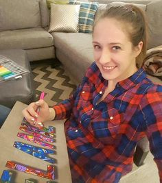 Personalize a wrapped canvas with your name . then color it! Coloring Canvas, Wrapped Canvas, Plaid, Shirts, Tops, Women, Fashion, Chess, Moda
