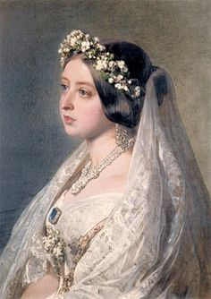 Queen Victoria's bridal portrait by Winterhalter