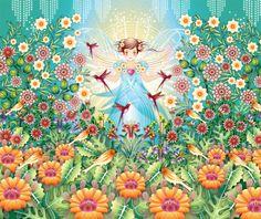 mural Catalina Estrada garden princess - Catalina Estrada - Artistas Bloom