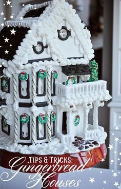Remodelaholic Gingerbread Houses: Tips Tricks; Day First Look at the Freaky Gingerbread House in Haunted Mansion Holiday « Disney Parks. Gingerbread Village, Christmas Gingerbread House, Noel Christmas, Christmas Goodies, Gingerbread Cookies, Gingerbread Houses, Gingerbread House Designs, Christmas Houses, Italian Christmas