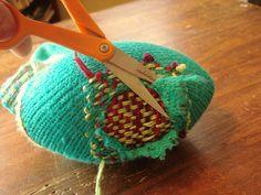 How to do it: Darn Socks | zigzag stitch