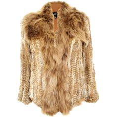 Elizabeth and James Kerri Fur Jacket (2.305 BRL) ❤ liked on Polyvore featuring outerwear, jackets, coats, fur, coats & jackets, brown fur jacket, elizabeth and james jacket, fur jacket, elizabeth and james and long sleeve jacket