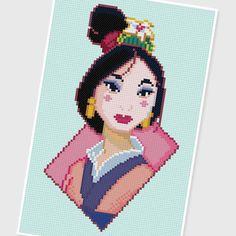 PDF Cross Stitch pattern : 0042.Mulan ( INSTANT DOWNLOAD ) by PIXcross