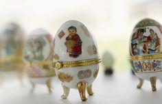 Decorated eggs museum in Austria