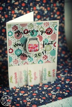 Défi gravure 12/12 : Bonne année ! Tampons, Gravure, Creations, Paper Crafts, Illustrations, Paper Crafting, Happy New Year, Greeting Cards, Tissue Paper Crafts