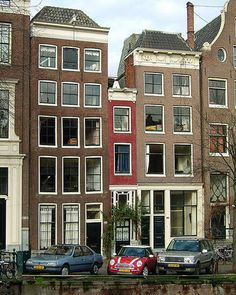 Now that's a skinny building.  Amsterdam's thinnest.