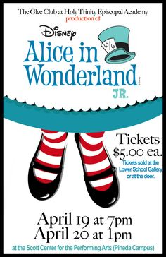 Holy Trinity Episcopal Academy Lower School Glee Club presents Alice in Wonderland, Jr.