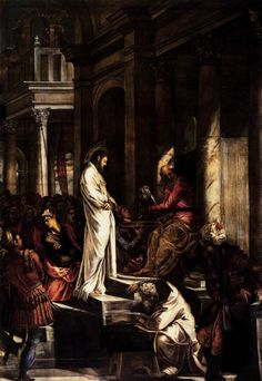 Christ before Pilate by  Tintoretto