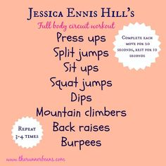 4db43d68ca928 Full Body Workout - Workout like Team GB Olympian Jessica Ennis Hill with  this circut based