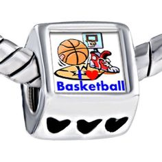 Pugster Basketball Equipment Love Playing Photo Heart European Beads Fits Pandora Charm Bracelet Pugster. $12.49. Size (mm): 7.60*9.10*10.10. Metal: Metal. Color: Colorful. Weight (gram): 4.20