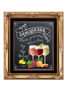 sangria bar sign, chalkboard sangria bar sign, printable sangria bar sign, wedding sangria bar sign, digital sangria bar, 8 x 10, YOU PRINT by OurFriendsEclectic on Etsy