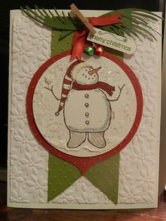 Stampin' Up! Snow Much Fun. Simple and cute.