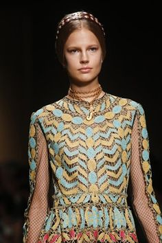 valentino ss14 paris fashion week - fabric detail