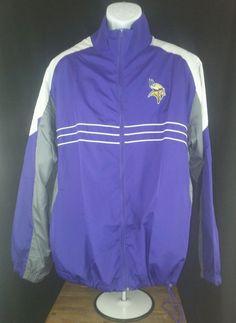 NFL Minnesota Vikings Zip Long Sleeve Jacket Men's XL Reebok football #Reebok #MinnesotaVikings