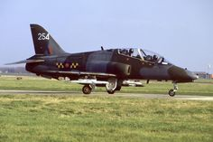 BAe Hawk T1a. RAF TWU Brawdy. (1980s) Air Force Aircraft, Royal Air Force, Military Aircraft, World War Two, Great Britain, Fighter Jets, Aviation, Bae, Two By Two