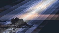 Animated Photo Collages by Qi Wei Fong Shimmer to Life as Time Passes landscapes gifs China