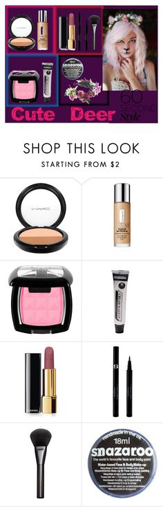 """Cute Deer"" by amina-loves-you ❤ liked on Polyvore featuring MAC Cosmetics, Clinique, Chanel, Sisley, Gucci, Rock 'N Rose, contest, LastMinute and Halloween2015"