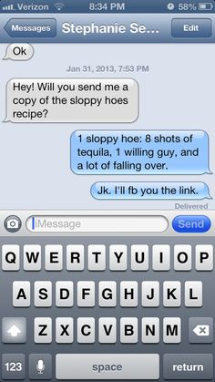 funny auto-correct texts - Recipe For Disaster