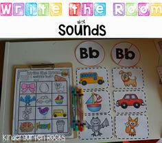 Beginning Sounds Practice and Activities.  Write the Room with Sounds is perfect for literacy stations.  Great for Kindergarten (beginning of year and RTI)  and Preschool(spring)