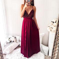 b5d7de966fd Power Of Love Maxi Dress - Maroon
