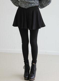 #fashion #skirt #black #cute #kpop #ulzzang #style