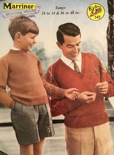 Comebacks, Knitting Patterns, Men Sweater, Vintage Boys, V Neck, Pullover, Couple Photos, Sleeves, Products