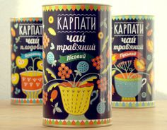 Herbal Tea Package Design in National Traditional Style of Ukraine
