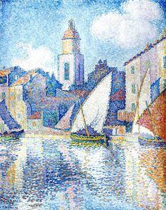 Steeple in Saint Tropez, 1896. Paul Signac