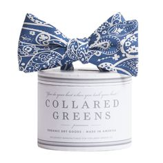 Collared Greens - Seaside Paisley Navy Bow Tie American Made, $55.00 (http://www.collaredgreens.com/products/seaside-paisley-navy-bow-tie-american-made.html)