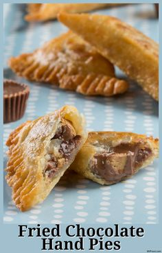 We stuffed your favorite peanut butter cups, along with some chocolate chips, inside these mini hand pies before frying them to perfection!
