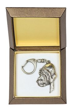 NEW, Bloodhound, dog keyring, key holder, in casket, limited edition, ArtDog ** Want additional info? Click on the image.