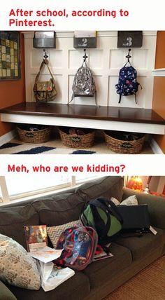 #Mudroom #Backpacks #organization #pinterestfail