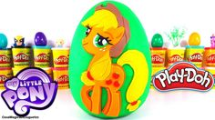 Huevo Sorpresa Gigante de My Little Pony de Applejack de  Plastilina Pla...