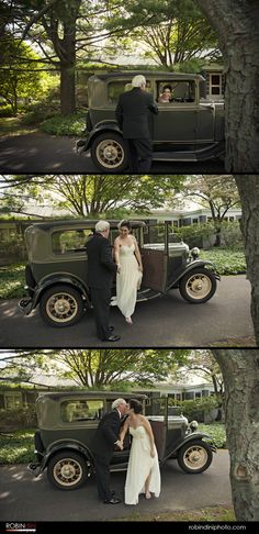 country wedding, antique car, vintage car, bride's arrival, rustic wedding, wedding photojournalism, visual storytelling