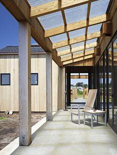 Corrugated plastic roofing - exterior room