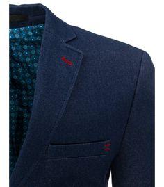 Modré pánske elegantné sako