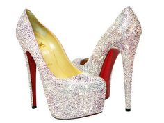 Christian Louboutin Daffodile Swarovski Crystal AB Pumps! What else is there to say??