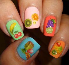 Sparkly Nails - Fruitilicious Water Decals #nails #nailart #colorful #polish - bellashoot.com