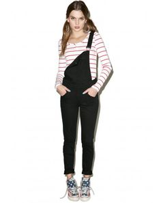 #DollsKill #lookbook #photoshoot #model #CheapMonday #new #black #skinny #dungarees #pants #overalls #cute
