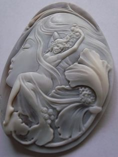 Flat Background, Cameo Jewelry, Diamond Settings, Hand Carved, Dancer, Just For You, Jewels, Pendant, Miniature