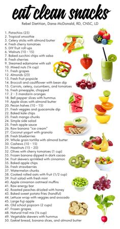 Eat Clean Snacks | rebelDIETITIAN.US