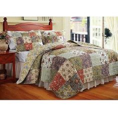 Floral Stripe Pattern King Bedding Set In A Bag Comfortable Bed Sheet Comforter