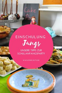 Unsere Tipps zur Schulanfangsparty deines Sohns Party, Table Decorations, Pink, Food, School Boy, Beginning Of School, Awesome Things, School Children, Back To School