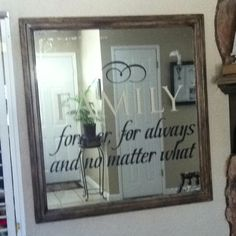 Repurposed antique mirror