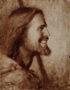 This is how I see Jesus in my mind eye Catholic Art, Religious Art, Jesus Laughing, Jesus Smiling, Friend Canvas, Pictures Of Jesus Christ, Religion Catolica, Jesus Painting, Jesus Christus