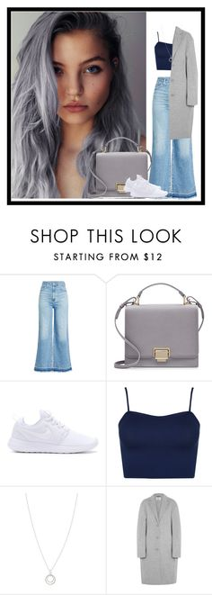 """socutesonude"" by scheherazadee ❤ liked on Polyvore featuring AG Adriano Goldschmied, Smythson, NIKE, WearAll, Accessorize and Acne Studios"