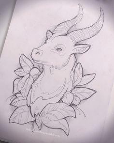 Goat Tattoo Sketch